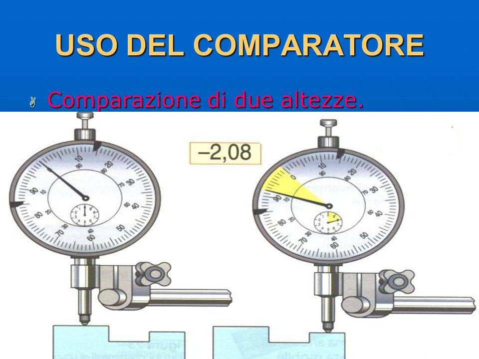 27/04/2014 DLA 105 USO DEL COMPARATORE Comparazione di due altezze. Comparazione di due altezze.