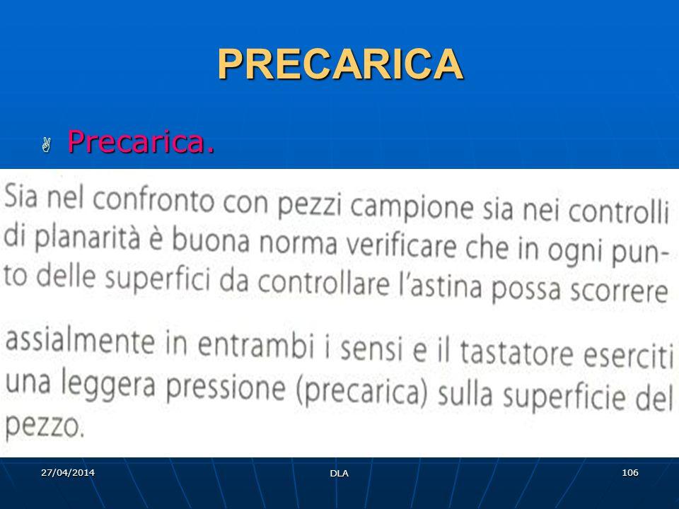 27/04/2014 DLA 106 PRECARICA Precarica. Precarica.