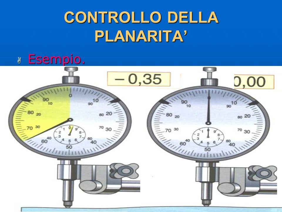 27/04/2014 DLA 108 CONTROLLO DELLA PLANARITA Esempio. Esempio.