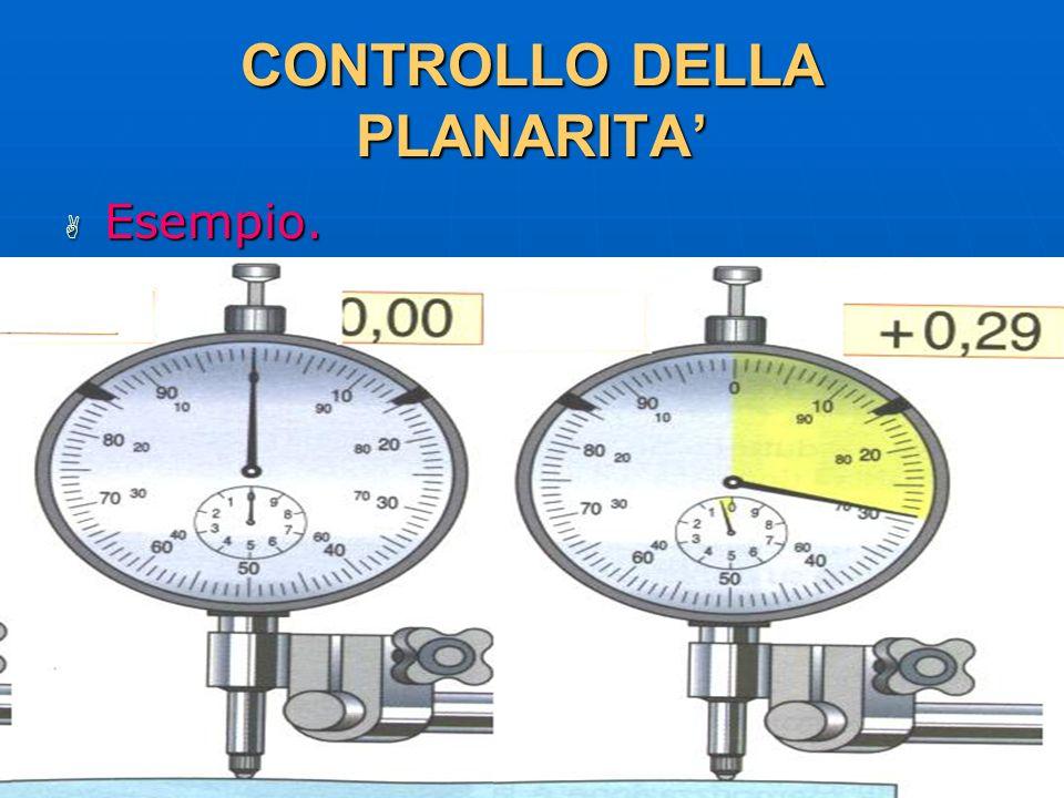27/04/2014 DLA 109 CONTROLLO DELLA PLANARITA Esempio. Esempio.