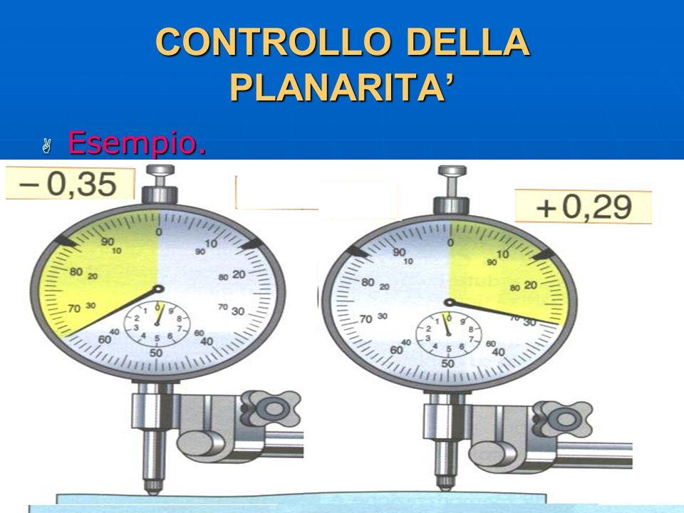27/04/2014 DLA 110 CONTROLLO DELLA PLANARITA Esempio. Esempio.