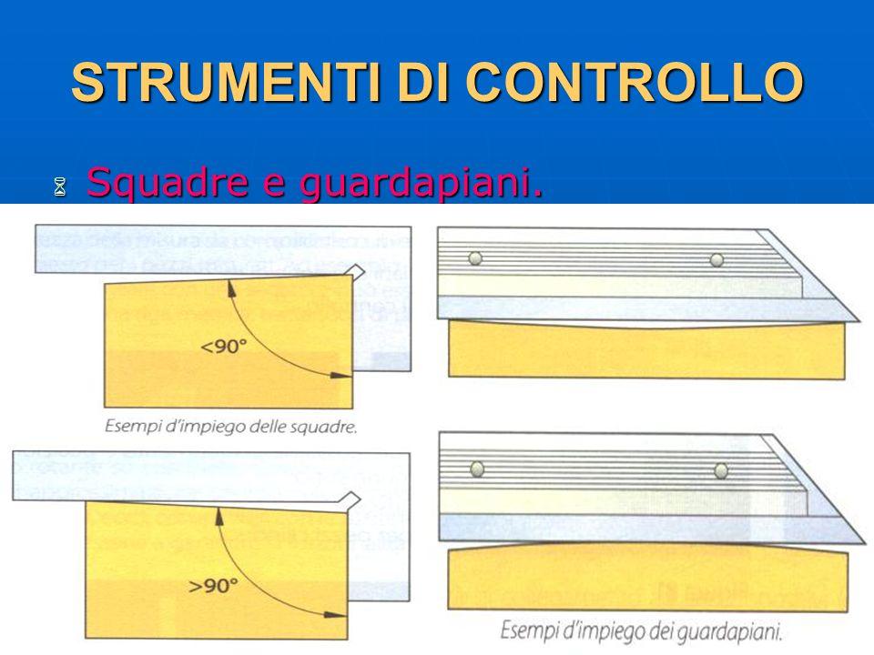 27/04/2014 DLA 124 STRUMENTI DI CONTROLLO Squadre e guardapiani. Squadre e guardapiani.
