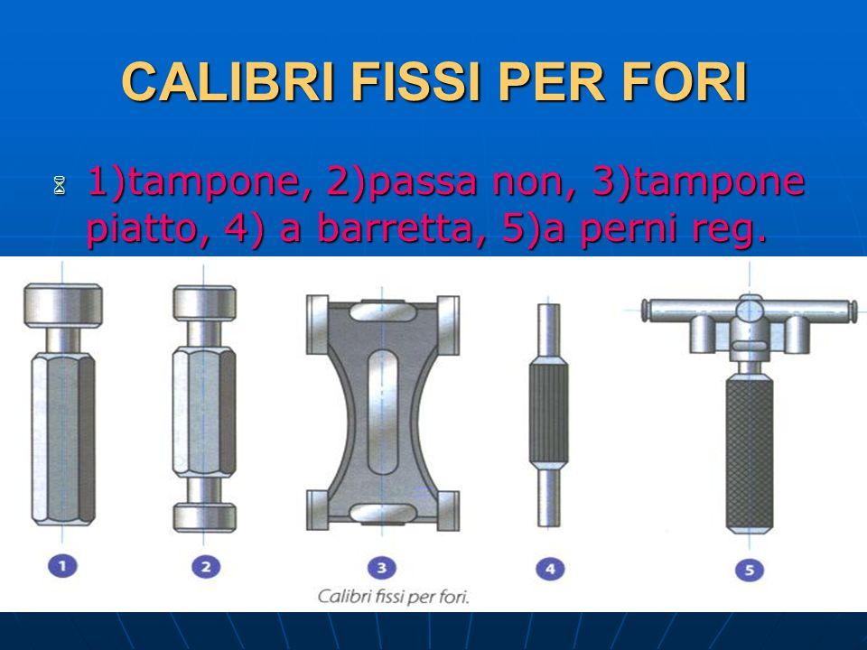 27/04/2014 DLA 128 CALIBRI FISSI PER FORI 1)tampone, 2)passa non, 3)tampone piatto, 4) a barretta, 5)a perni reg. 1)tampone, 2)passa non, 3)tampone pi