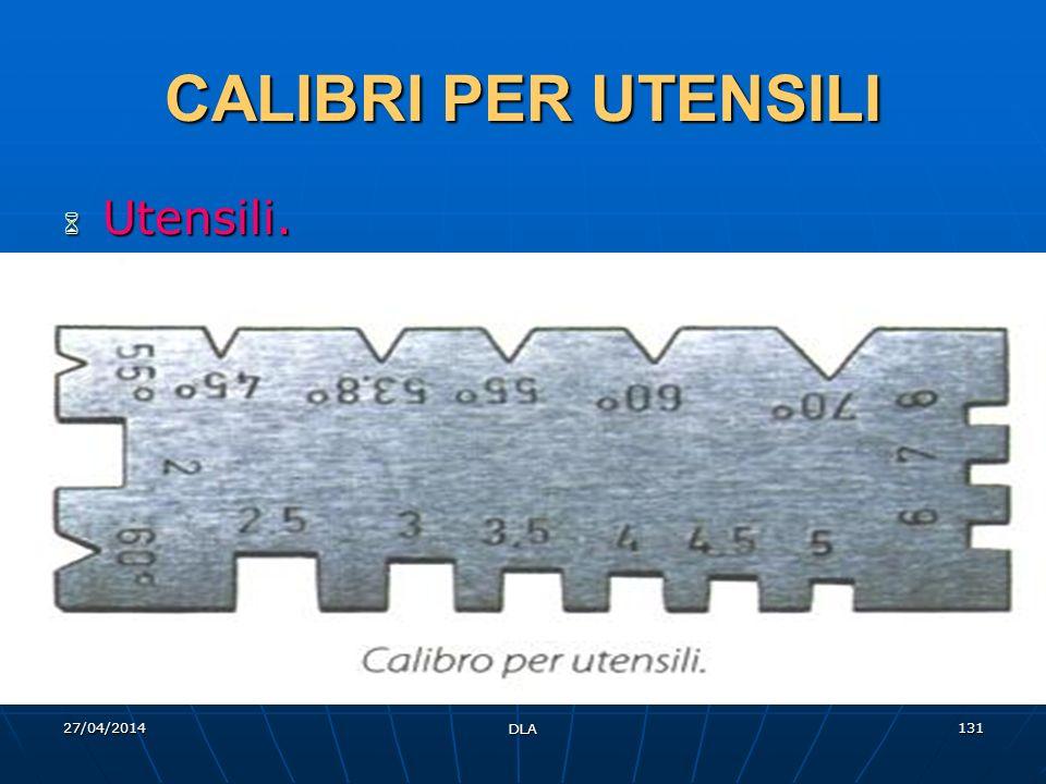 27/04/2014 DLA 131 CALIBRI PER UTENSILI Utensili. Utensili.