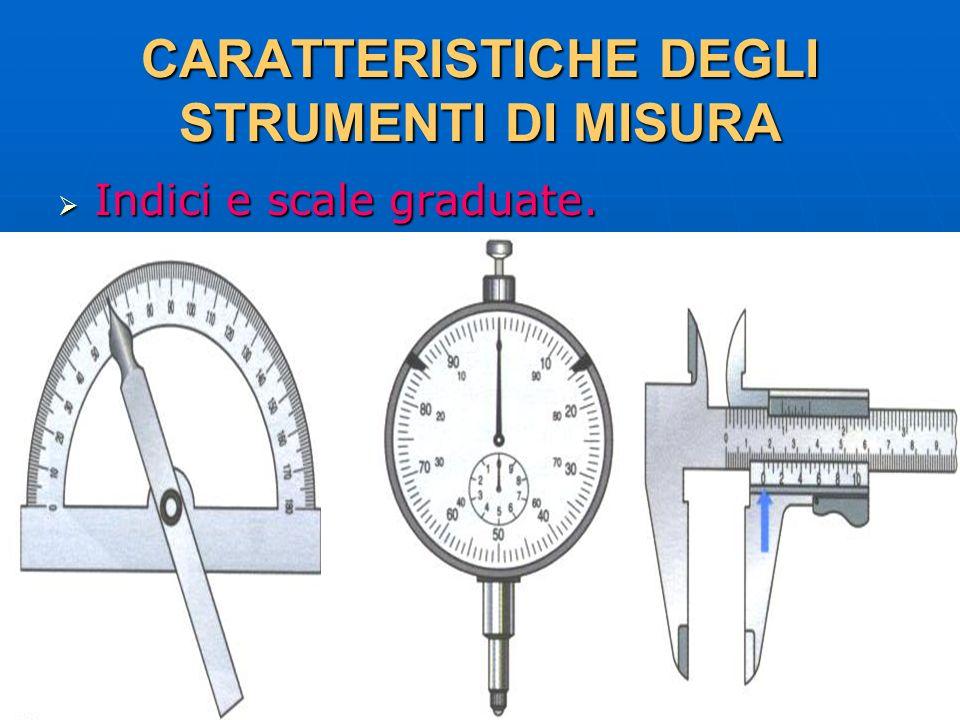 27/04/2014 DLA 31 CARATTERISTICHE DEGLI STRUMENTI DI MISURA Indici e scale graduate. Indici e scale graduate.
