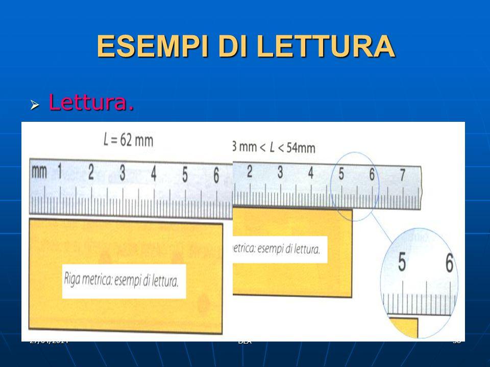 27/04/2014 DLA 38 ESEMPI DI LETTURA Lettura. Lettura.