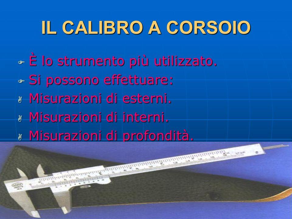 27/04/2014 DLA 39 IL CALIBRO A CORSOIO È lo strumento più utilizzato. È lo strumento più utilizzato. Si possono effettuare: Si possono effettuare: Mis