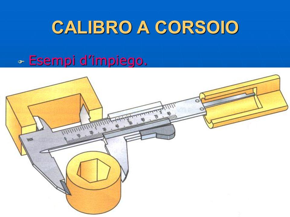 27/04/2014 DLA 41 CALIBRO A CORSOIO Esempi dimpiego. Esempi dimpiego.