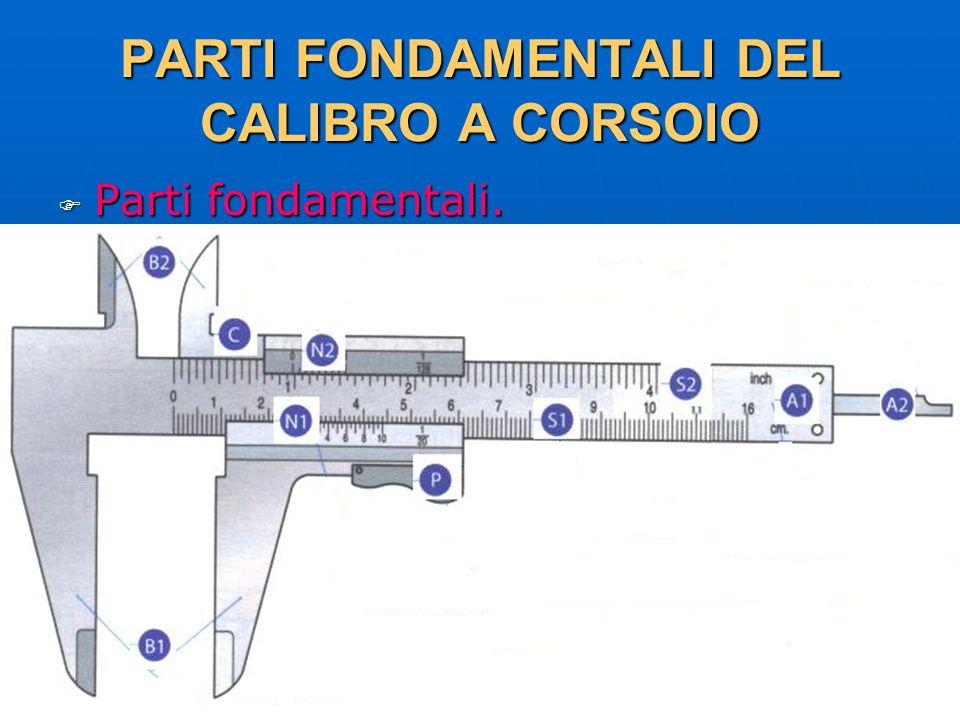 27/04/2014 DLA 42 PARTI FONDAMENTALI DEL CALIBRO A CORSOIO Parti fondamentali. Parti fondamentali.