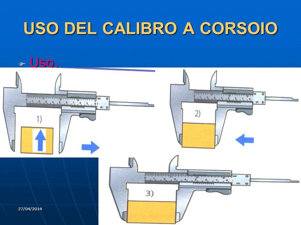 27/04/2014 DLA 45 USO DEL CALIBRO A CORSOIO Uso. Uso.