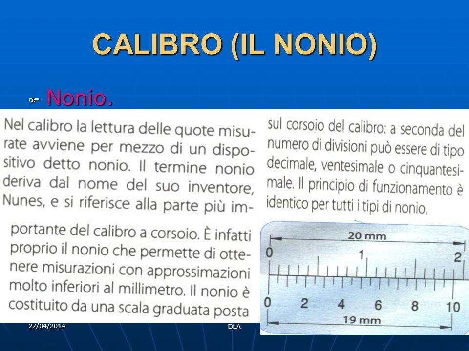 27/04/2014 DLA 46 CALIBRO (IL NONIO) Nonio. Nonio.