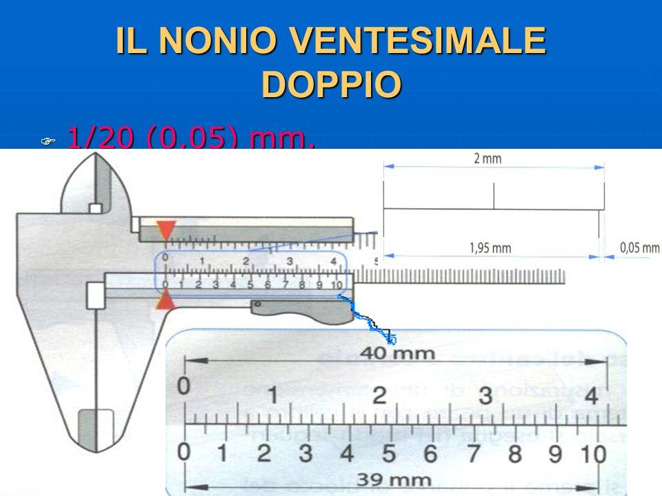 27/04/2014 DLA 48 IL NONIO VENTESIMALE DOPPIO 1/20 (0,05) mm. 1/20 (0,05) mm.