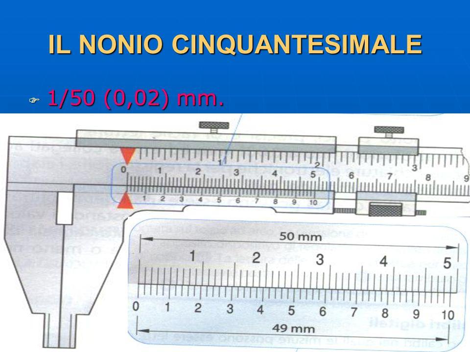 27/04/2014 DLA 51 IL NONIO CINQUANTESIMALE 1/50 (0,02) mm. 1/50 (0,02) mm.