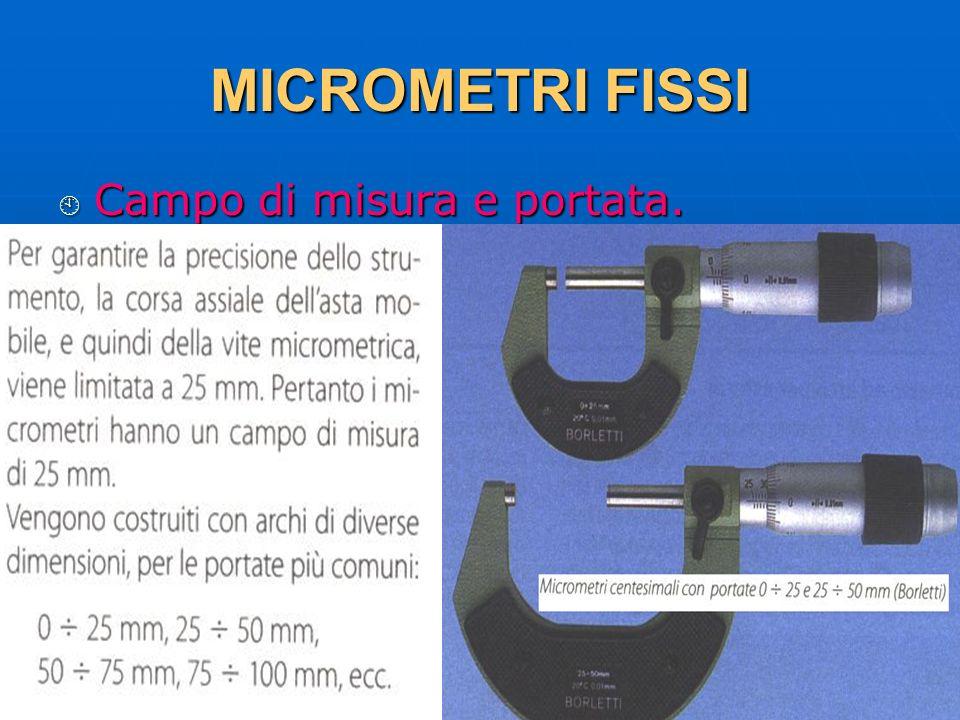 27/04/2014 DLA 63 MICROMETRI FISSI Campo di misura e portata. Campo di misura e portata.