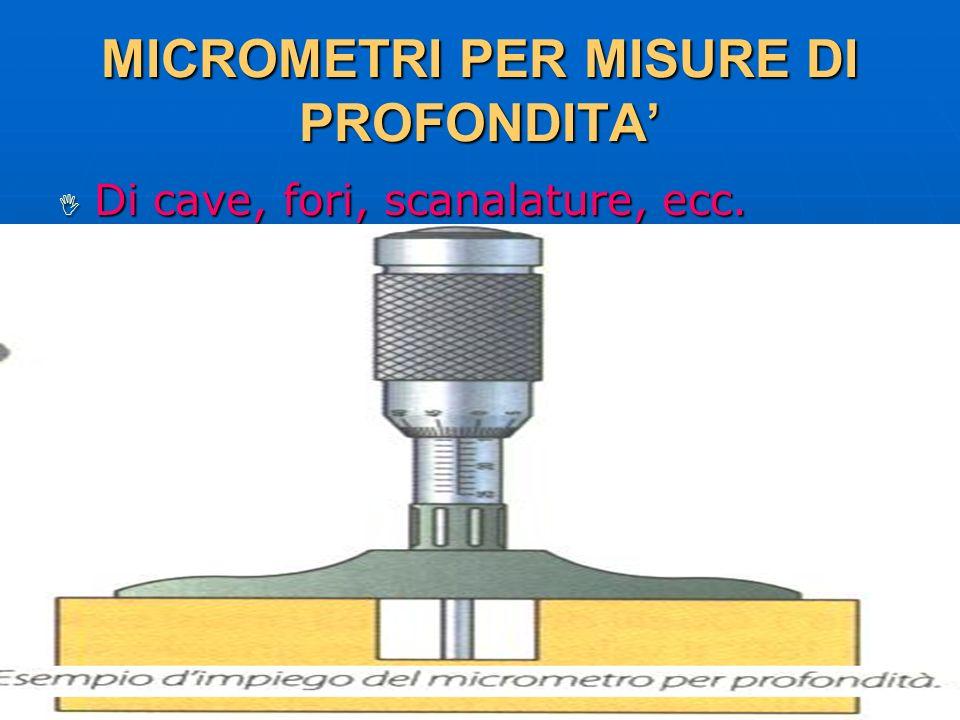 27/04/2014 DLA 75 MICROMETRI PER MISURE DI PROFONDITA Di cave, fori, scanalature, ecc. Di cave, fori, scanalature, ecc.