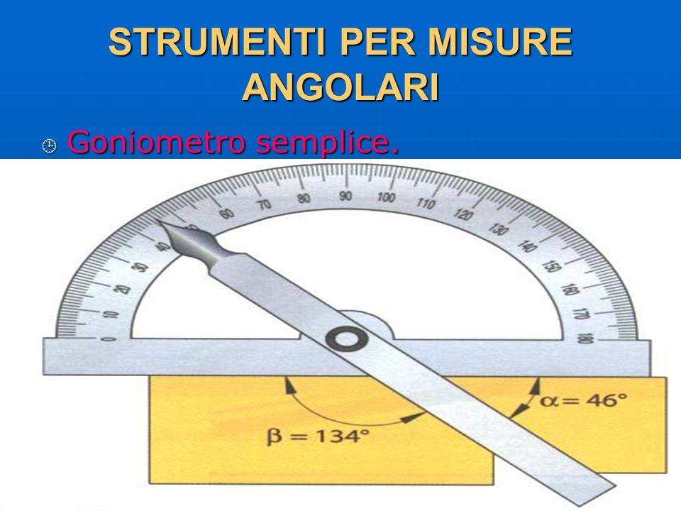 27/04/2014 DLA 80 STRUMENTI PER MISURE ANGOLARI Goniometro semplice. Goniometro semplice.