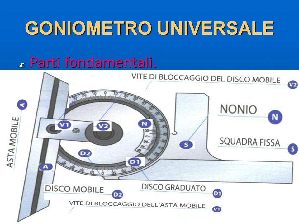 27/04/2014 DLA 83 GONIOMETRO UNIVERSALE Parti fondamentali. Parti fondamentali.