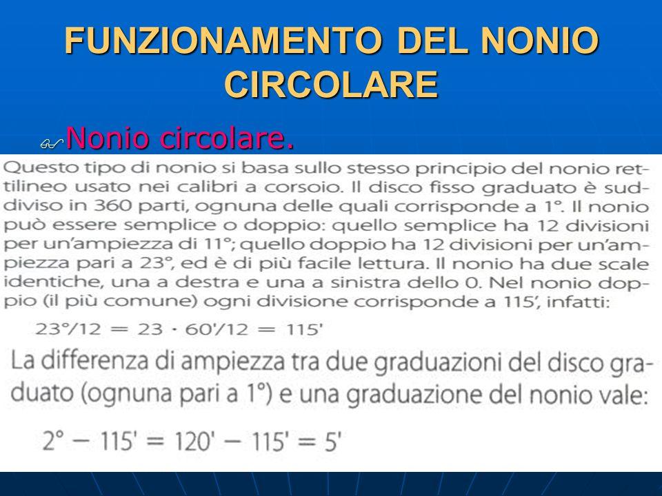 27/04/2014 DLA 86 FUNZIONAMENTO DEL NONIO CIRCOLARE Nonio circolare. Nonio circolare.