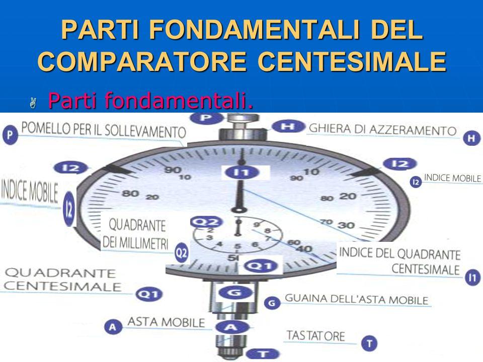 27/04/2014 DLA 97 PARTI FONDAMENTALI DEL COMPARATORE CENTESIMALE Parti fondamentali. Parti fondamentali.