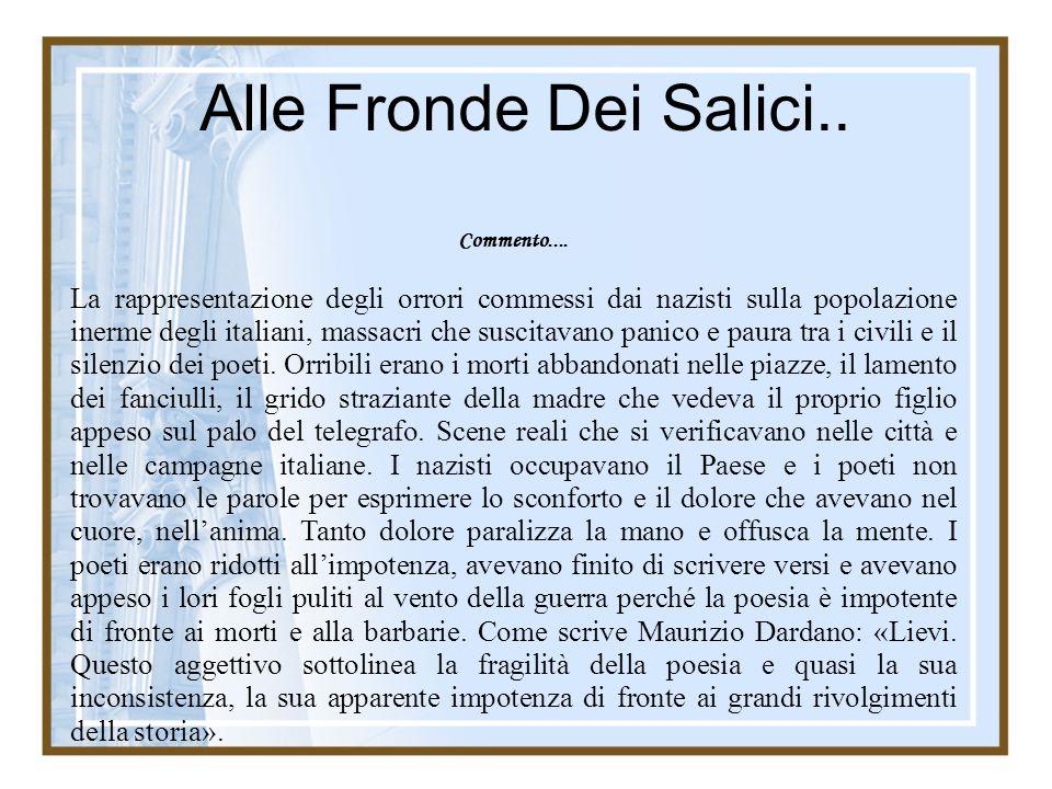 Commento.... La rappresentazione degli orrori commessi dai nazisti sulla popolazione inerme degli italiani, massacri che suscitavano panico e paura tr