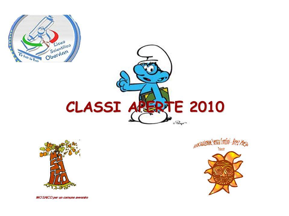 MOSAICO per un comune avvenire CLASSI APERTE 2010