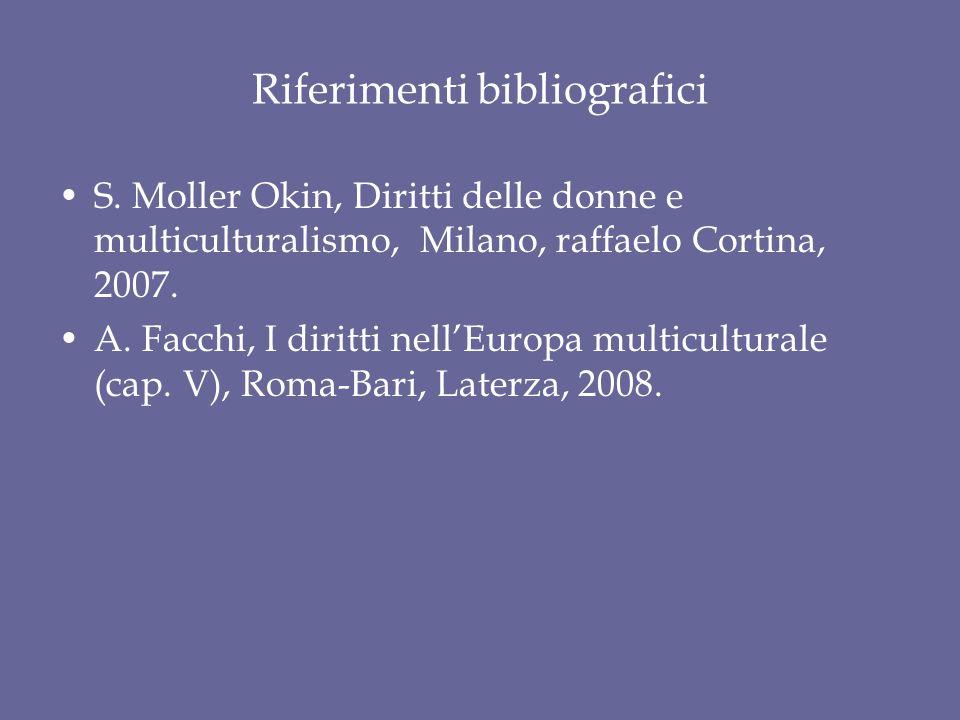 Riferimenti bibliografici S.