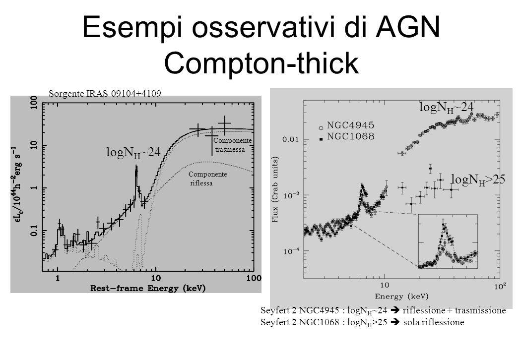 Il numero degli AGN oscurati e la distribuzione dei loro assorbimenti e nota solo per le galassie di Seyfert nellUniverso locale: levoluzione cosmologica della distribuzione di N H e del rapporto fra AGN oscurati e non e ancora poco conosciuta..