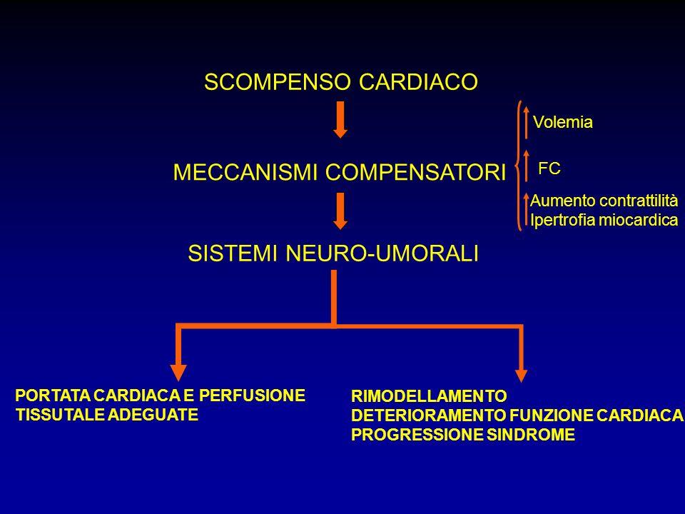 IPERTENSIONE E SCOMPENSO STEP1: ACE-I (o ARB), beta-bloccanti e mineralcorticoidi (classe I A) STEP 2: diuretico tiazidico (o se già in terapia con diuretico tiazidico passare a diuretico dellansa) (classe I C).