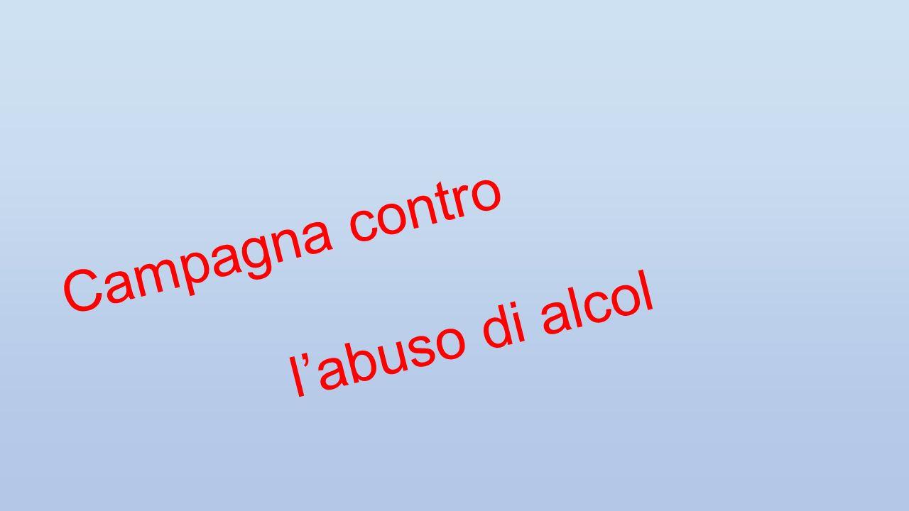 Campagna contro labuso di alcol