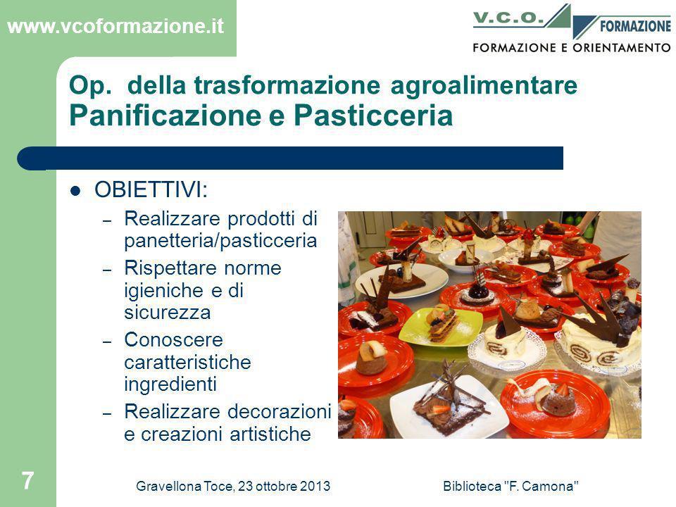 www.vcoformazione.it Gravellona Toce, 23 ottobre 2013Biblioteca F. Camona 38 BUON APPETITO !!!