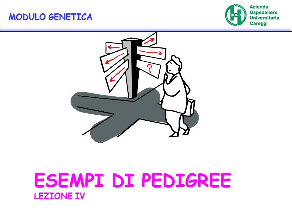 ESEMPI DI PEDIGREE LEZIONE IV MODULO GENETICA