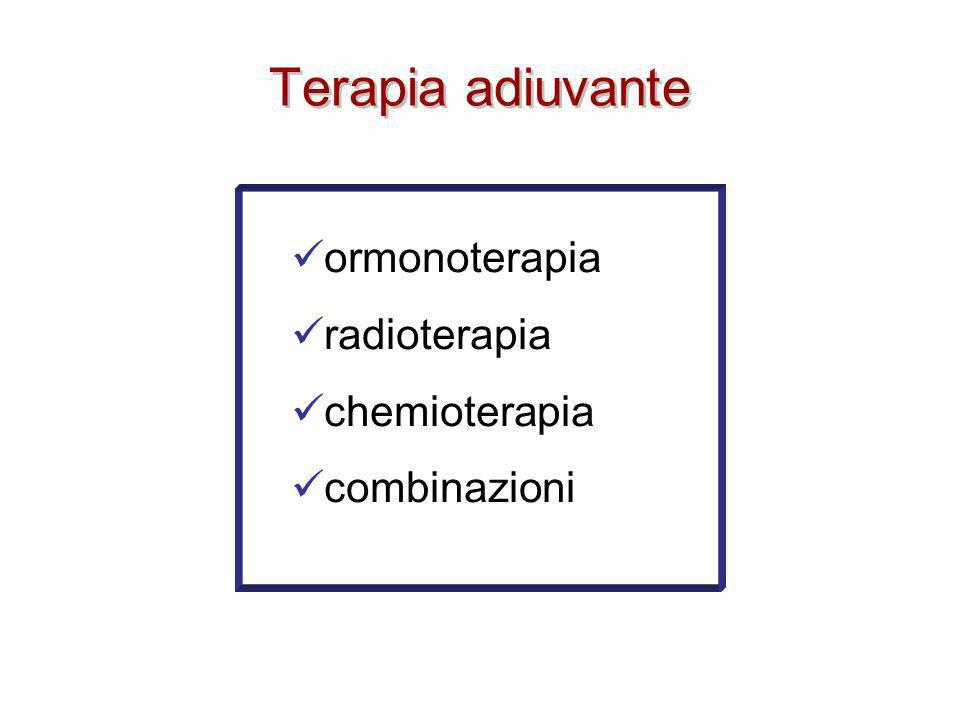 Terapia adiuvante ormonoterapia radioterapia chemioterapia combinazioni