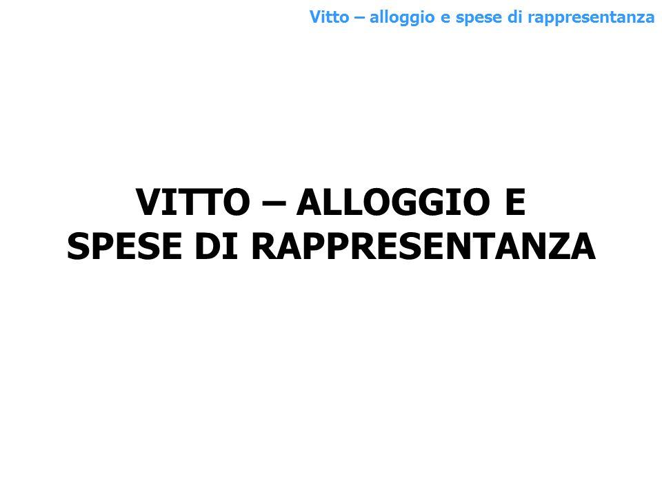 Alberghi Ristoranti 100% Rappr.nza 100% Totale (1+2 + altro) Alberghi/Ristoranti Solo rappresentanza al 75% Rappr.nza Quota ded.