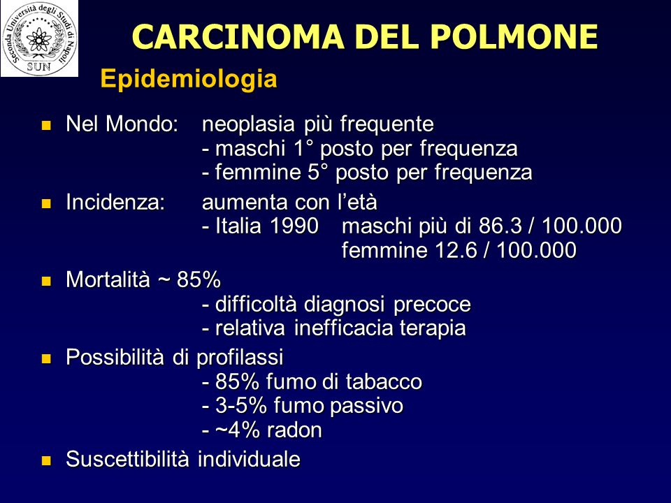 Epidemiologia - Incidenza