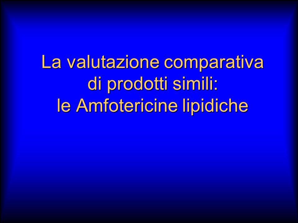 La valutazione comparativa di prodotti simili: le Amfotericine lipidiche