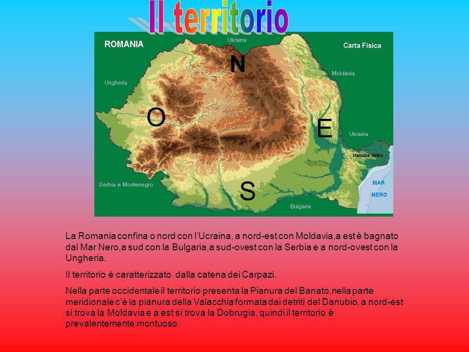 La Romania confina o nord con lUcraina, a nord-est con Moldavia,a est è bagnato dal Mar Nero,a sud con la Bulgaria,a sud-ovest con la Serbia e a nord-