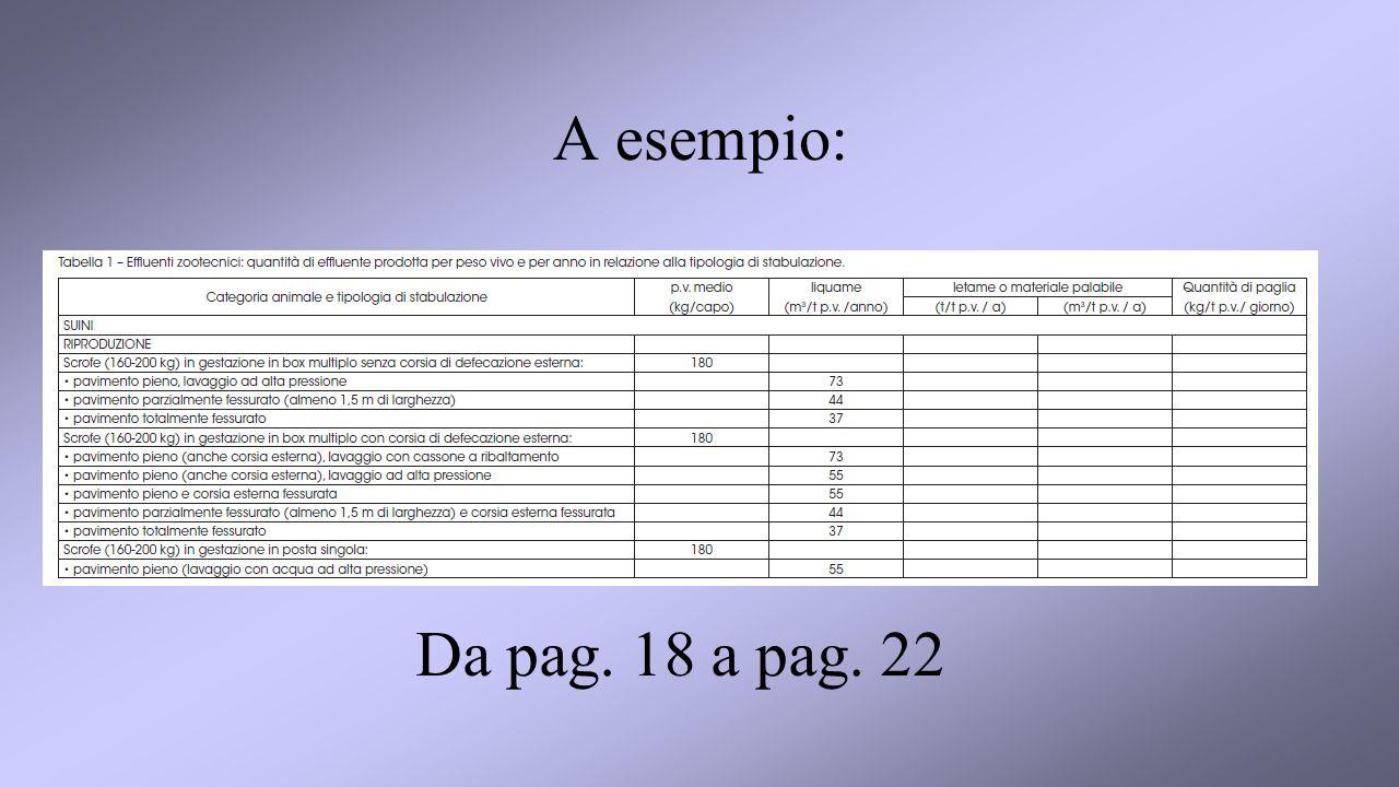 A esempio: Da pag. 18 a pag. 22