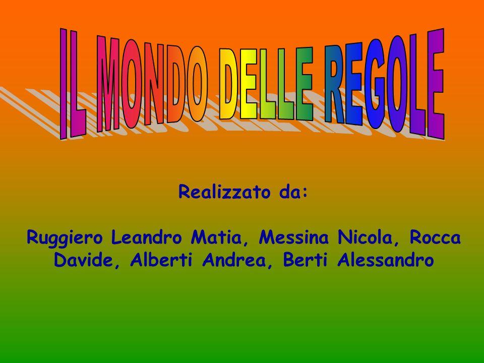 Realizzato da: Ruggiero Leandro Matia, Messina Nicola, Rocca Davide, Alberti Andrea, Berti Alessandro