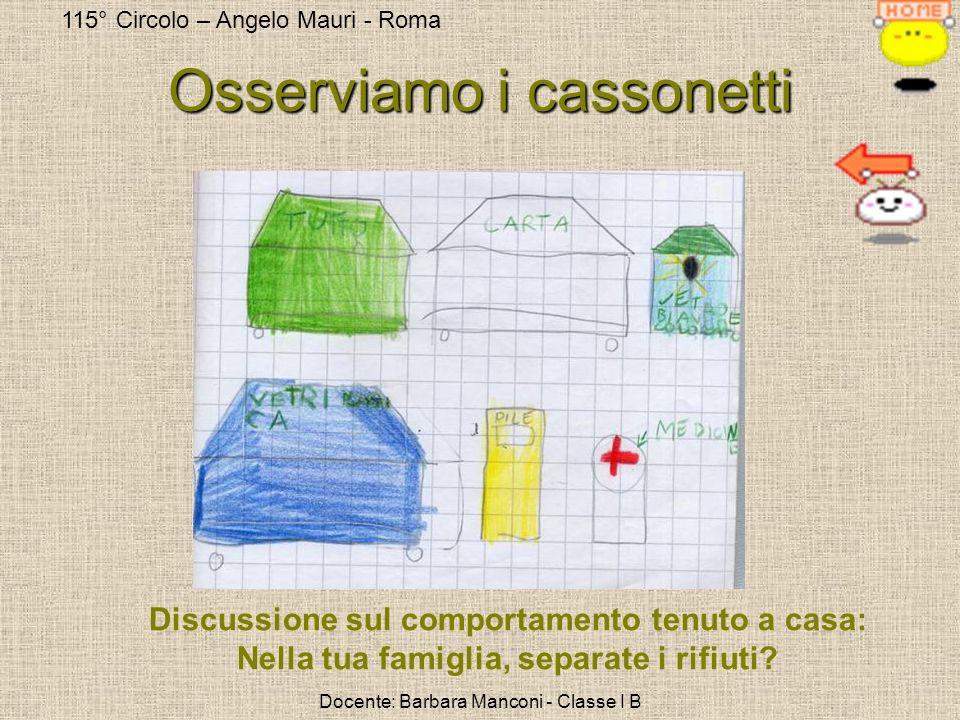 115° Circolo – Angelo Mauri - Roma Docente: Barbara Manconi - Classe I B Fase 2: COSA POSSIAMO FARE PER NON SPRECARE MATERIE PRIME.