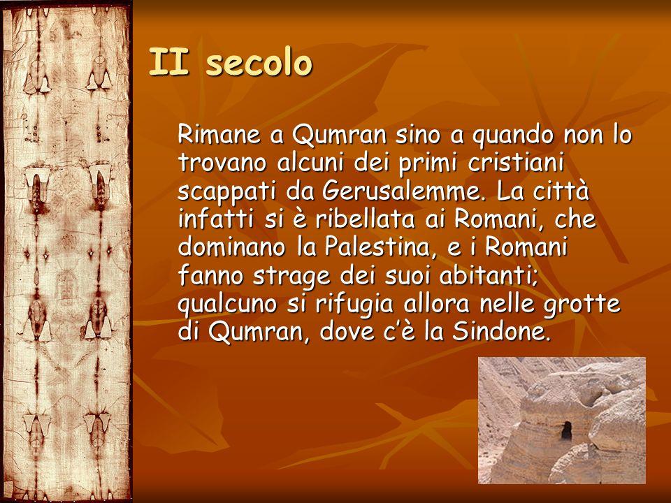 Rimane a Qumran sino a quando non lo trovano alcuni dei primi cristiani scappati da Gerusalemme. La città infatti si è ribellata ai Romani, che domina