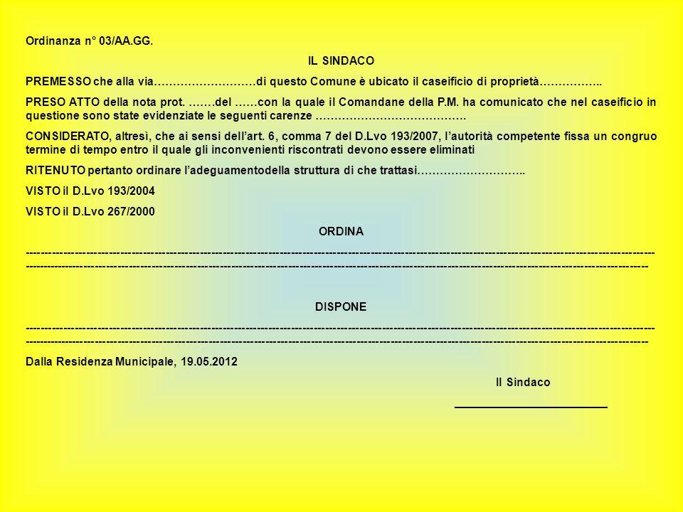 Ordinanza n° 03/AA.GG.
