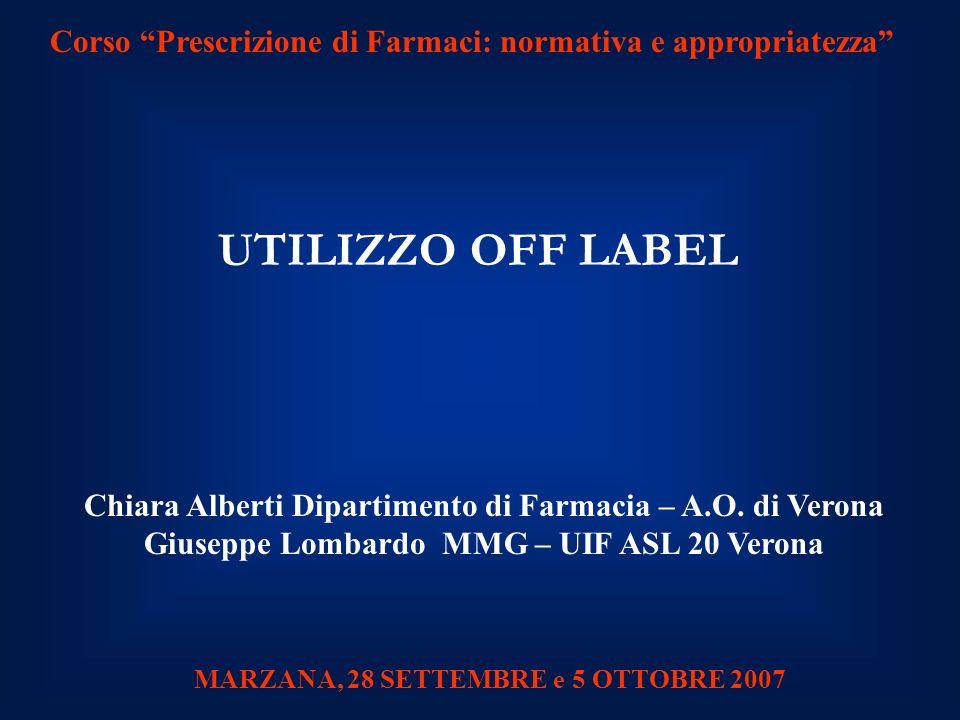 Chiara Alberti Dipartimento di Farmacia – A.O.