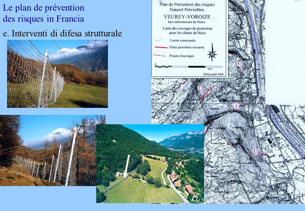 Le plan de prévention des risques in Francia e. Interventi di difesa strutturale