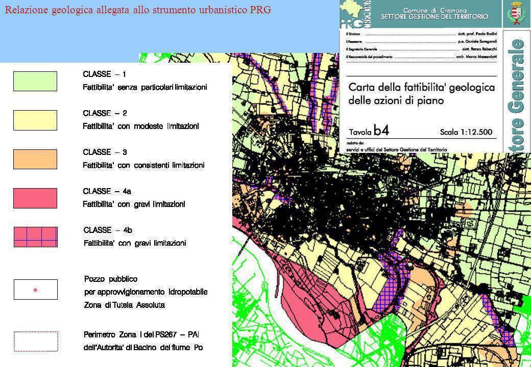 Relazione geologica allegata allo strumento urbanistico PRG