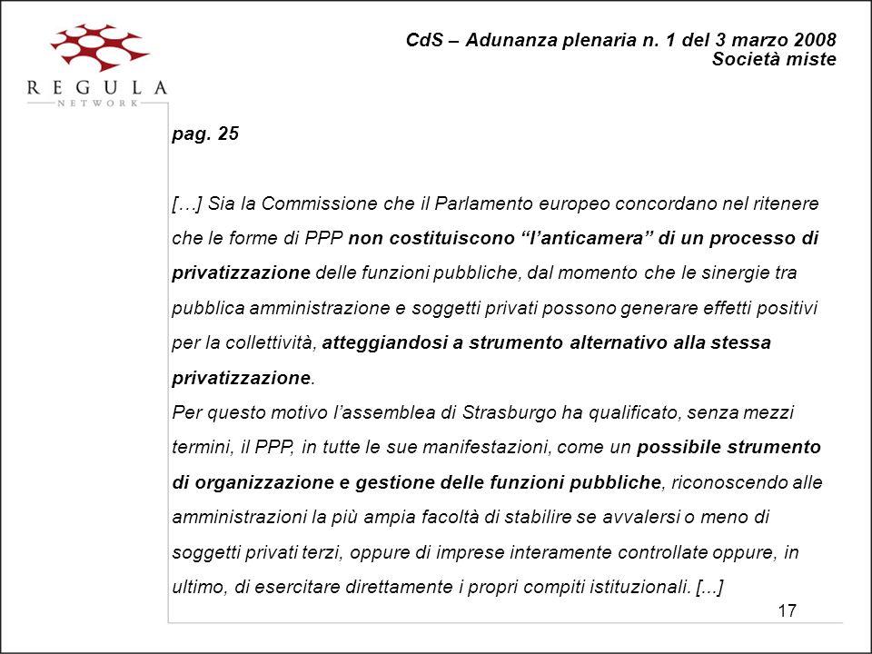 17 CdS – Adunanza plenaria n. 1 del 3 marzo 2008 Società miste pag.