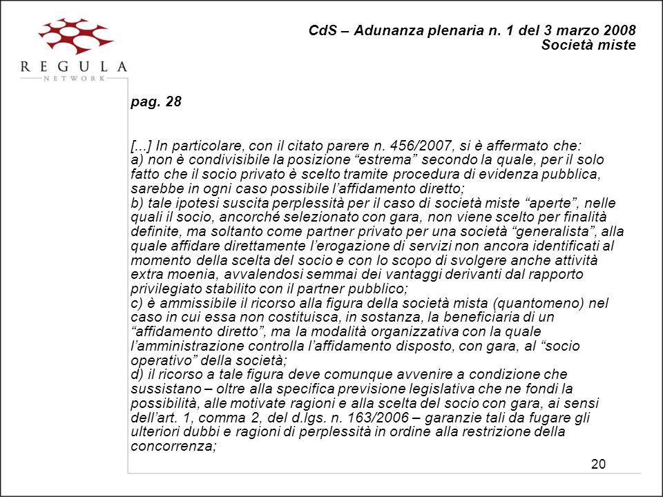 20 CdS – Adunanza plenaria n. 1 del 3 marzo 2008 Società miste pag.