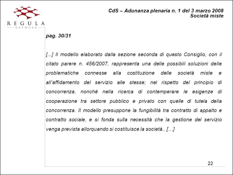 22 CdS – Adunanza plenaria n. 1 del 3 marzo 2008 Società miste pag.