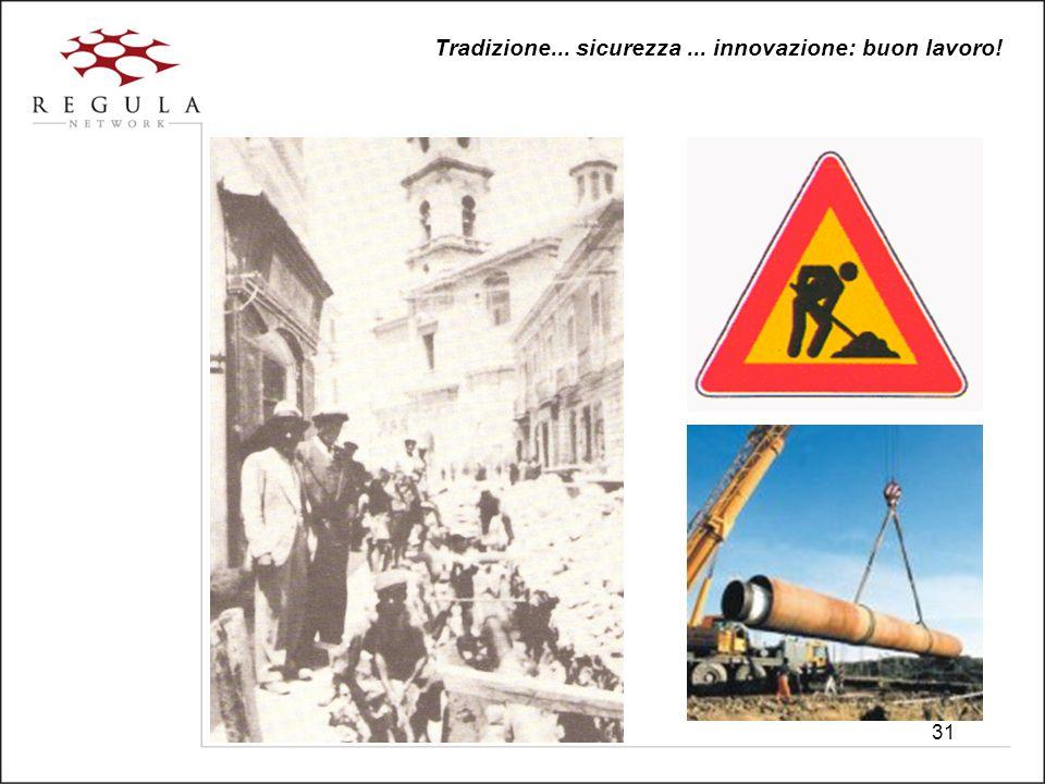 31 Tradizione... sicurezza... innovazione: buon lavoro!