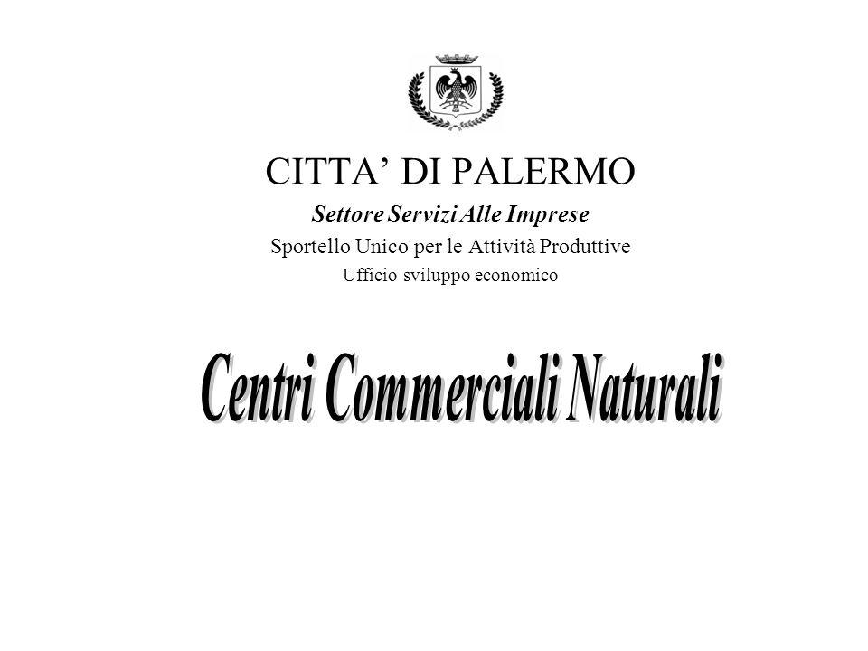 CITTA DI PALERMO Settore Servizi Alle Imprese Sportello Unico per le Attività Produttive Ufficio sviluppo economico