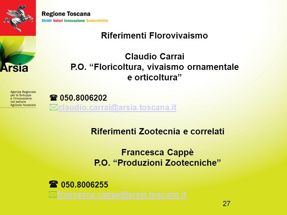 27 Riferimenti Florovivaismo Claudio Carrai P.O.